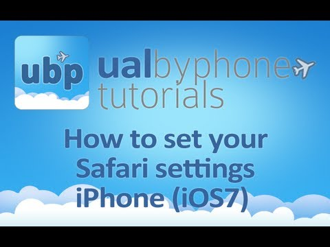iPhone (iOS7) Safari Settings for ualbyphone