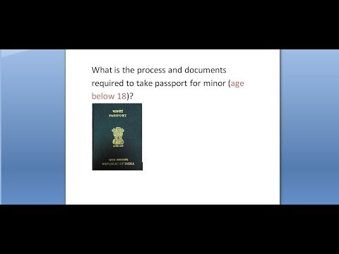 2017 process and documents required to apply INDIA passport for minors (18 years below)