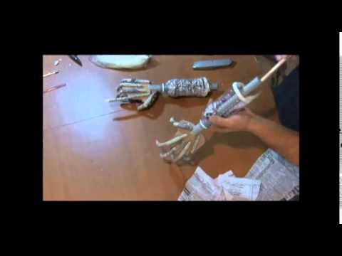 How to make hands from paper mache Part 1