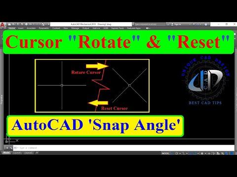 Rotate cursor and reset rotated cursor, how to rotate UCS, Snap angle