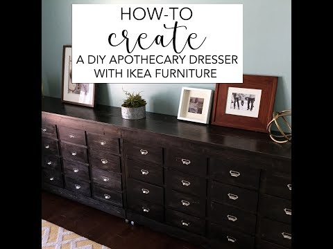 HOW-TO CREATE AN APOTHECARY DRESSER // IKEA HACK