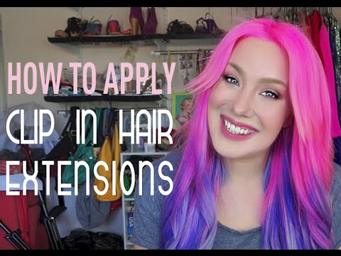The best way to apply clip-in hair extensions