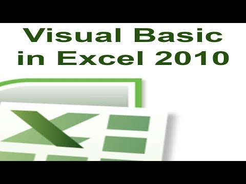 Excel 2010 VBA Tutorial Serie 4   VBA Code Save  in Hindi