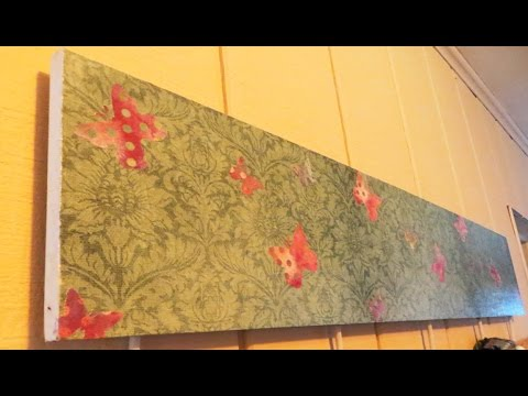 Decoupage Tutorial How to use Scrapbook paper to Decoupage