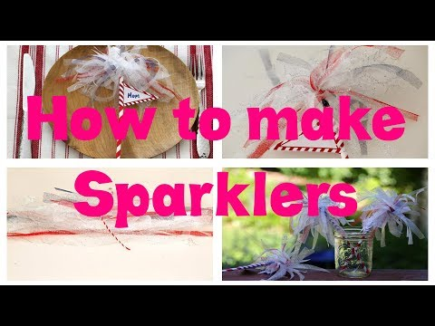 How to make Sparklers Craft as Sweet Day at Home