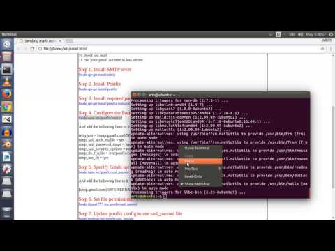 Sending mails using php mail function on Ubuntu Linux server
