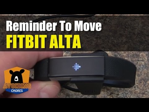 Fitbit Alta - How To Adjust Activity Goal - Reminder To Move - FEATURE REVIEW