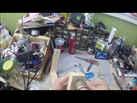 Simple rotating epoxy drying rack.