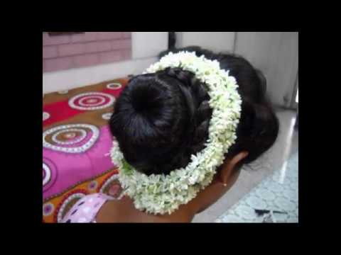 A Traditional Indian Bun hairstyle. Bridal hairstyle // Wedding hairstyle // Party hairstyle //