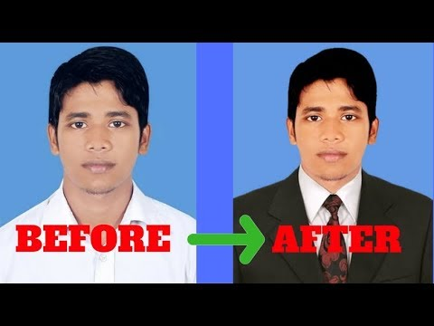 How To Put Coat In Photoshop ? -Create Passport Size Photo With Coat..!!