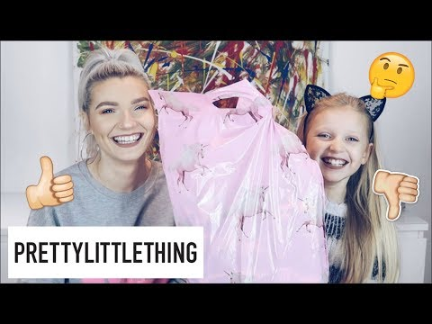 9 Year Old Sister Does My Pretty Little Thing Haul (Try On) | LoveFings