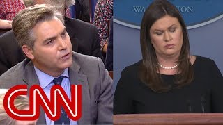 Acosta to Sanders: Say the press is not the enemy