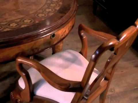 Walnut Victorian Dining Table Queen Anne Chairs Set Suite
