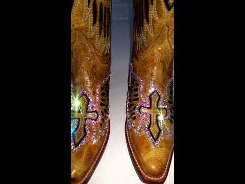 Custom made bling boots.