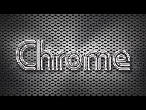 PhotoShop Tutorial - How to make Chrome Text Effect with different style