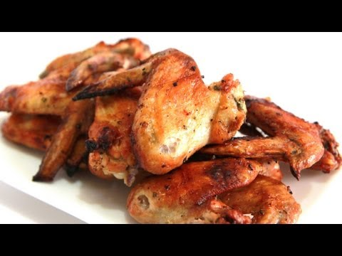 Lemon, Herb and Garlic Rotisserie Chicken Wings - Video Recipe