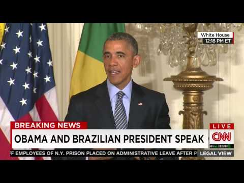 Obama: Can't wear my Brazilian shirt in public since 'I have to root for the USA'