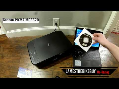 Unboxing and Setup Wireless Print Canon PIXMA Printer