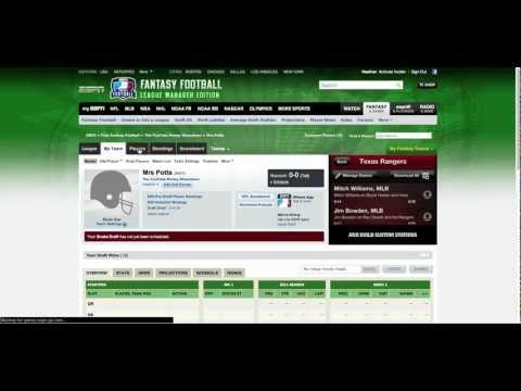 Fantasy Football Tutorial Pt 1: Creating Your Team