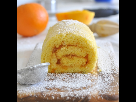 Orange Infused Roll Cake by Cooking with Manuela