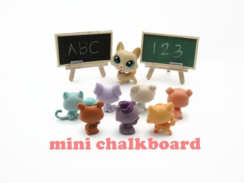 DIY Miniature Doll Mini Chalkboard Easel with Duster - Easy!