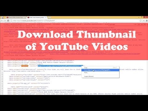 View/Download Thumbnail Image of Any YouTube Videos
