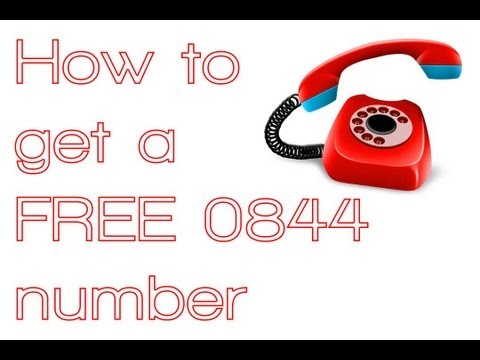 How to get a FREE 0844 number