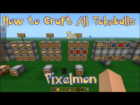 Minecraft Pixelmon Tutorial: How to Craft ALL Pokeballs | Catch Rate & Each Ball's Use