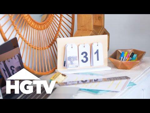 DIY Photo Flip Calendar - HGTV Happy