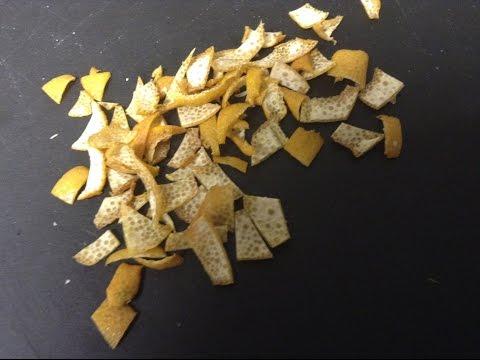 Homade Dried Lemon Peel