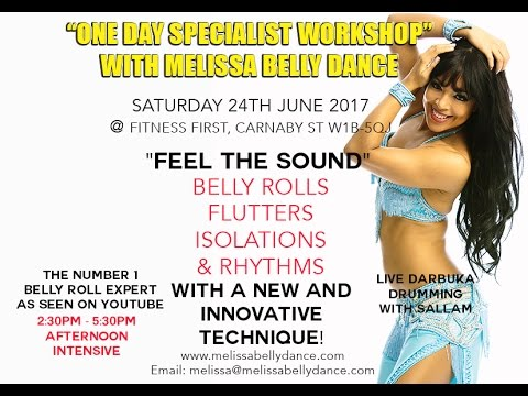 Belly Dance Belly Rolls Flutters And Isolations Workshop