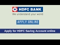 Open HDFC Bank Saving Account Online Without Visiting Branch