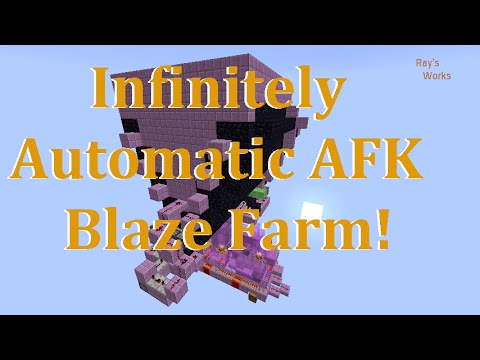 Infinitely Automatic AFK Blaze Farm! [Simple] 1.12-1.9+ Vanilla Survival | Ray's Works