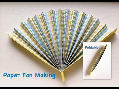 Paper Fan making easy tutorial Hand Fan that can fold
