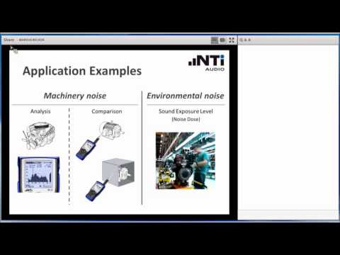 NTi Audio Webinar - Sound Level Measurements in an Industrial Environment