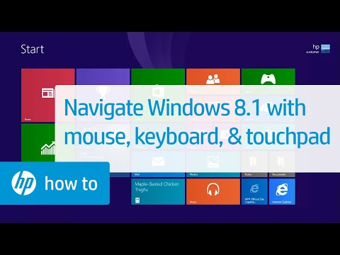 Navigating Windows 8.1 with Mouse, Keyboard, and Touchpad for HP Computers