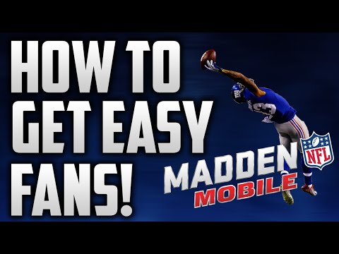 How to get MILLIONS of fans in Madden Mobile