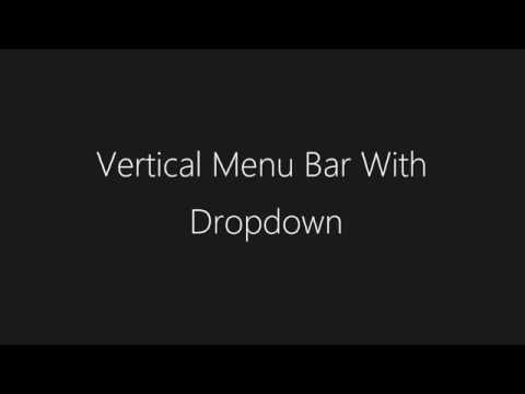 Vertical Menu Bar With Dropdown | HTML & CSS - TheMindSpeaks