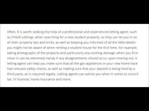 Rental Property Tips for Students l O'Neill Lettings