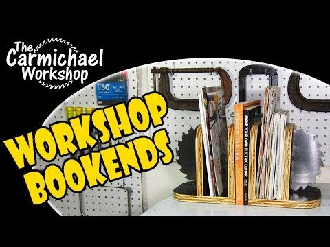Workshop Bookends - Easy Woodworking Project