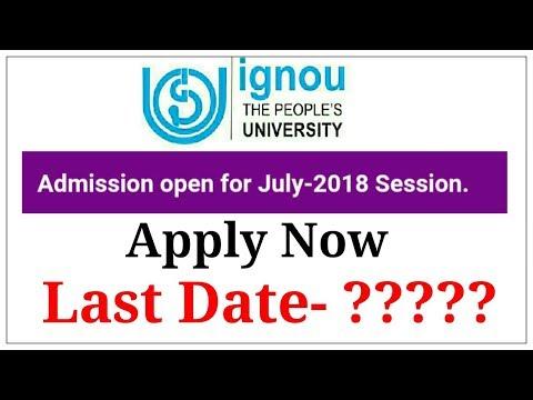 IGNOU July 2018 Fresh Admission Open | IGNOU New Admission 2018 |