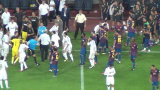 Barça Vs Real Madrid 3-2 Marcelo's Fault On Fabregas   Fight 17/08/2011 (HD)