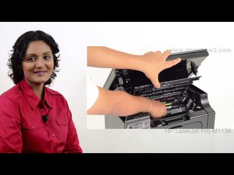 HP Laserjet Pro M1136 - Installing/Replacing Ink cartridges - Preview