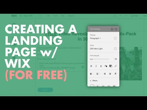 How to Create a Landing Page in Wix in 14 mins [FREE]
