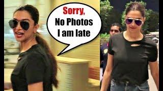 Deepika Padukone IGNORES Media & Says Sorry At Mumbai Airport