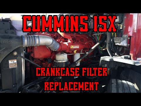Cummins isx crankcase filter removal replacement
