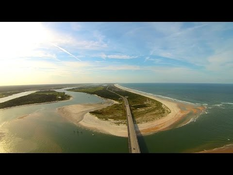 Matanzas Inlet Florida Yuneec Q500 Typhoon Aerial Drone Video