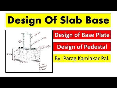 Design Of Slab Base as per IS 800-2007  Steel Structure by PARAG KAMLAKAR PAL.