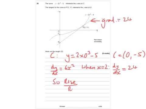AQA Further Maths GCSE 2016 Paper 2 - Q25 - Calculus
