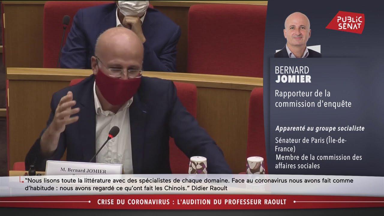 Hydroxychloroquine : échange tendu entre Didier Raoult et le sénateur Jomier